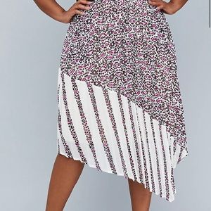 🌟Lane Bryant GWC Pleated Mixed Print Skirt NWT